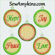 christmas applique christmas applique ornament warm wishes embroidery design set 10