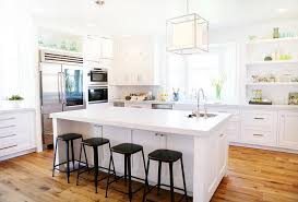 kitchen island with stools white kitchen island with backless black metal counter stools