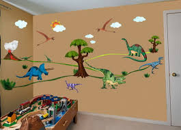 kids bedrooms with dinosaur themed wall art and murals boys room dinosaur bedroom decorating ideas design decors boys room image of decor for sale