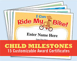 kid certificates milestones learn to swim u0026 ride a bike awards