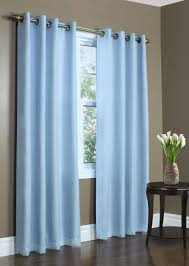 Grey And Blue Curtains Accessories Endearing Home Window Treatment Decoration Using