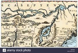 Map Of New England by Nova Belgh Tabula Map Of New Netherland And New England 1670