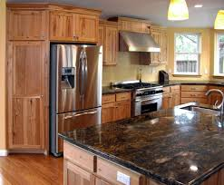 Stained Hickory Cabinets Kitchens With Hickory Cabinets Kitchen Decoration