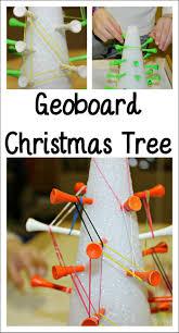 diy foam geoboard tree for seasonal fine motor fun trees plays
