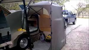 side entrance tent for my campinn 560 teardrop trailer youtube