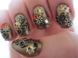 steampunk nail art tutorial youtube