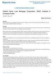 federal home loan mortgage corporation swot analysis u0026 company profi u2026