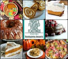 thanksgiving dessert recipe roundup friday s featured foodie feastings