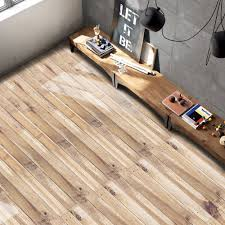 Laminate Flooring Converter Brown Home Decor Wood Grain Print Vinyl Floor Sticker Rosegal Com