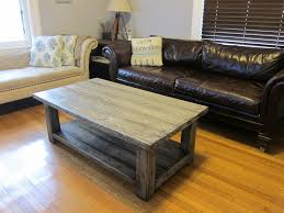 rustic solid wood coffee table grey stained rectangle rustic solid wood bench coffee table designs