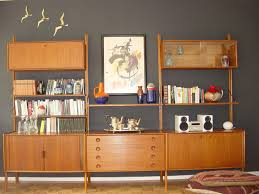 mid century wall shelf unit