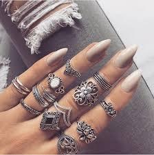 ring set jewels hot fancy ring midi nail