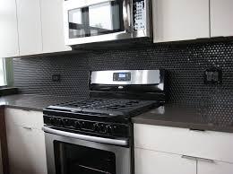 Copper Penny Tile Backsplash - kitchen design ceramic penny backsplash ideas in gray color how