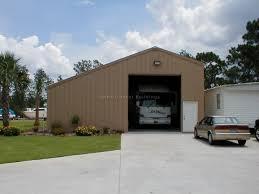 Rv Garage With Living Space Custom Prefabricated Steel Rv U0026 Boat Storage Large Metal Garage