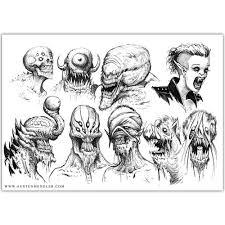 monsters 04 original a4 ink drawing u2014 the art of austen mengler