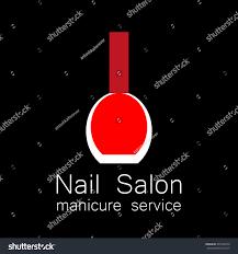 nail salon logo vector nail polish stock vector 393148579