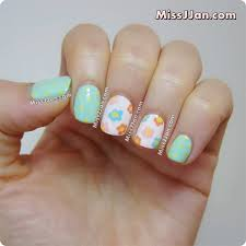 missjjan u0027s beauty blog pastel flowers nail art tutorial