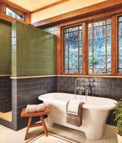 craftsman style bathroom ideas a bath goes from washed out to craftsman style this house