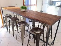 table cuisine bar table haute style industriel table cuisine style industriel emejing