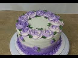 Simple Cake Decorating Simple Rosette Ombre Cake Cake Decorating Youtube