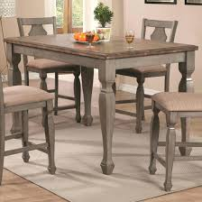 two tone dining table set and chairs chicago bench white 2 room