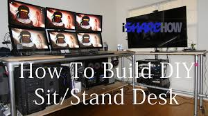 Diy Standing Desk by Diy Ishare How To Build Standing Desk Youtube