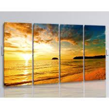oversized beach sunset glow print photography wall art living room