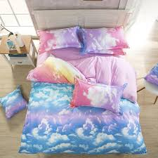 harajuku galaxy sheet bedding bag four piece cute kawaii