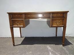 Beautiful Desk Sligh Lowery Leather Top Writing Desk Vintage Regency Mid Century