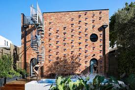 cool house cool brick house built as secondary dwelling in melbourne curbed