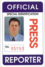 official press reporter id card