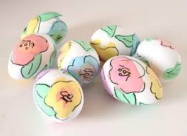 fancy easter eggs watercolor floral eggs a bigger