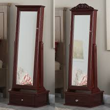 mirrored jewelry armoire excellent wall mounted locking mirrored