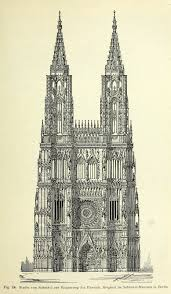 schinkel u0027s design for the completed cathedral strasbourg