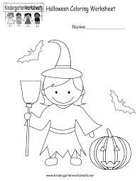 Halloween Comprehension Worksheets Halloween Coloring Worksheet Free Kindergarten Holiday Worksheet