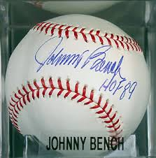 Johnny Bench Autograph Kevin U0027s Signed Baseball Page