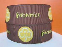 girl scout ribbon girl scouts brownies on brown 1 inch