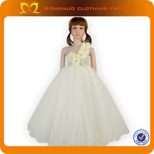flower girls lovely maxi festive puffy dress girls pageant dress