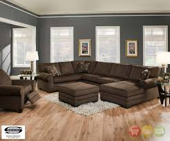 Sectional Living Room Sets Sale by Plush Brown Upholstered U Shaped Sofa Sectional Living Room