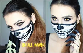 Halloween Skeleton Faces by Skull Mask Bandana Halloween Tutorial Youtube