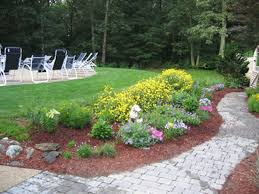 simple landscaping ideas around deck in marvelous small front yard