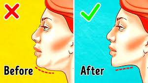 how to make a double chin look less noticable eith hair the 7 most effective exercises to get rid of a double chin youtube