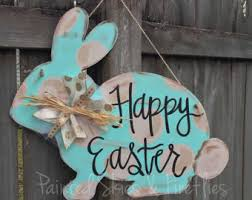 Wooden Outdoor Easter Decorations by Outdoor Easter Decor Etsy