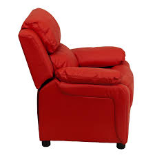 amazon com flash furniture deluxe padded contemporary red vinyl