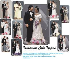 custom wedding cake toppers and groom personalized wedding cake tops to look like the and groom on
