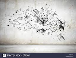 sketch background image business plan and ideas stock photo