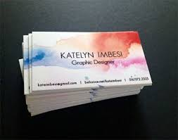 Graphic Artist Business Card Best 25 Watercolor Business Cards Ideas On Pinterest Watercolor