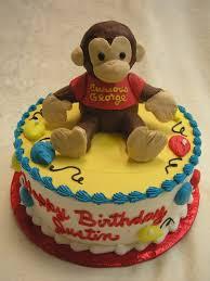 curious george birthday cake kids cakes