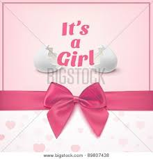 baby shower posters its a girl template for baby shower celebration poster id 89807438