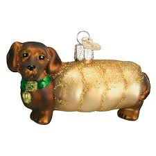 amazon com old world christmas wiener dog glass blown ornament